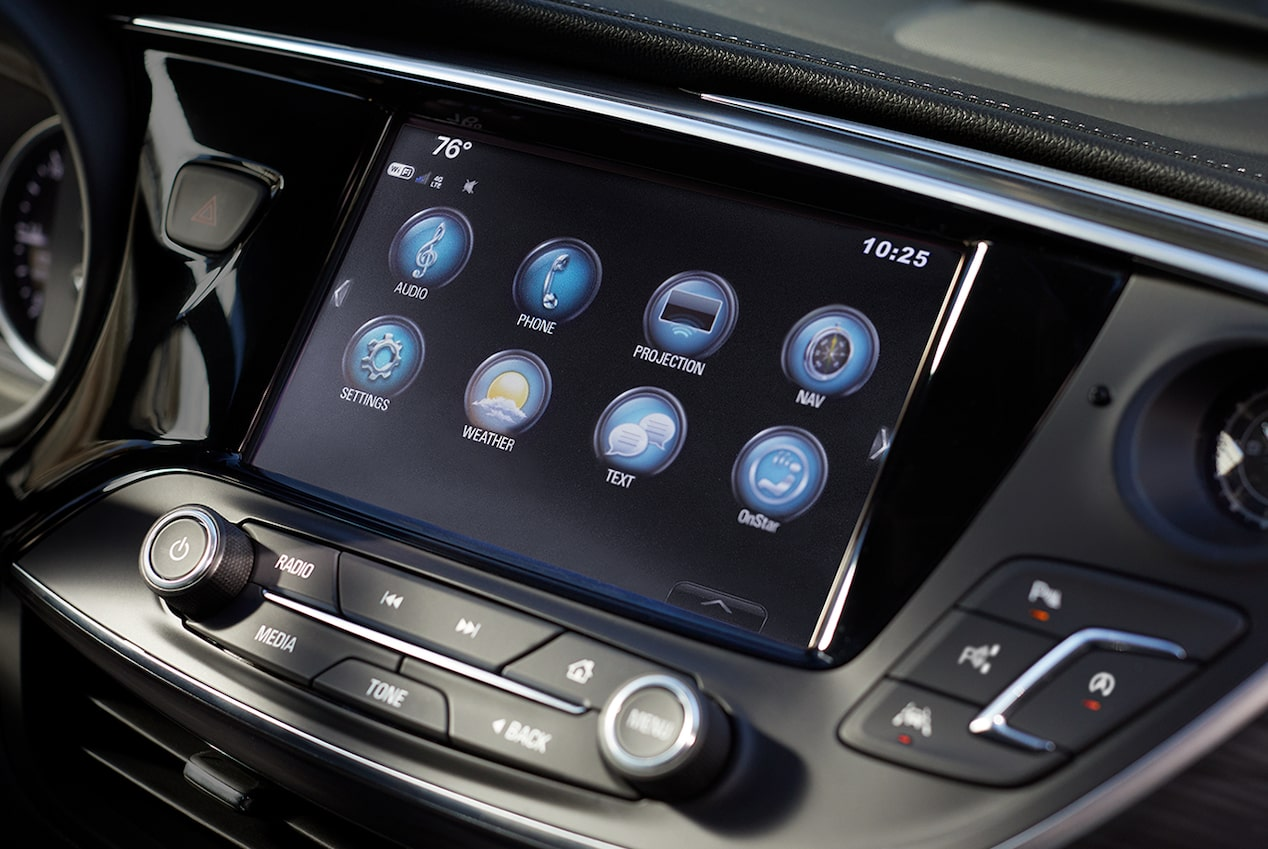 The 2019 Envision compact luxury SUV's Buick Infotainment System.
