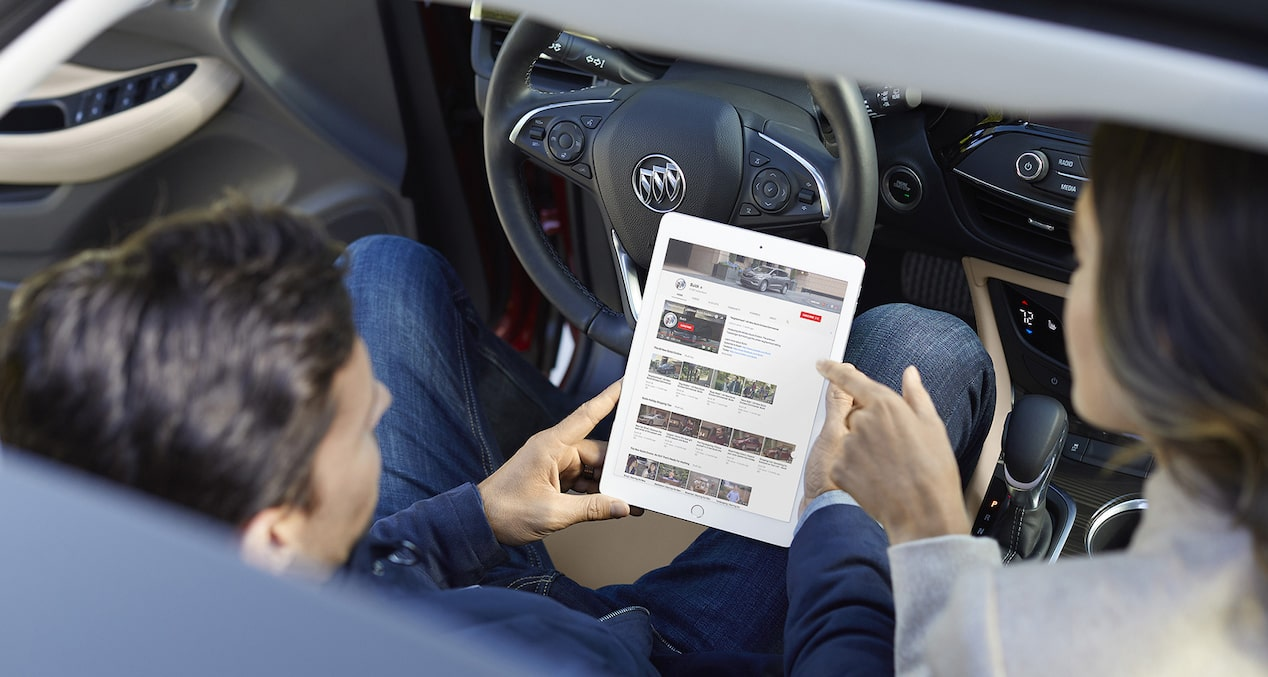 The Buick Envision with available 4G LTE with built-in Wi-Fi hotspot.