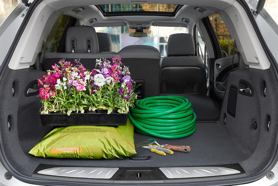 The Envision features flexible cargo space for day-to day items.