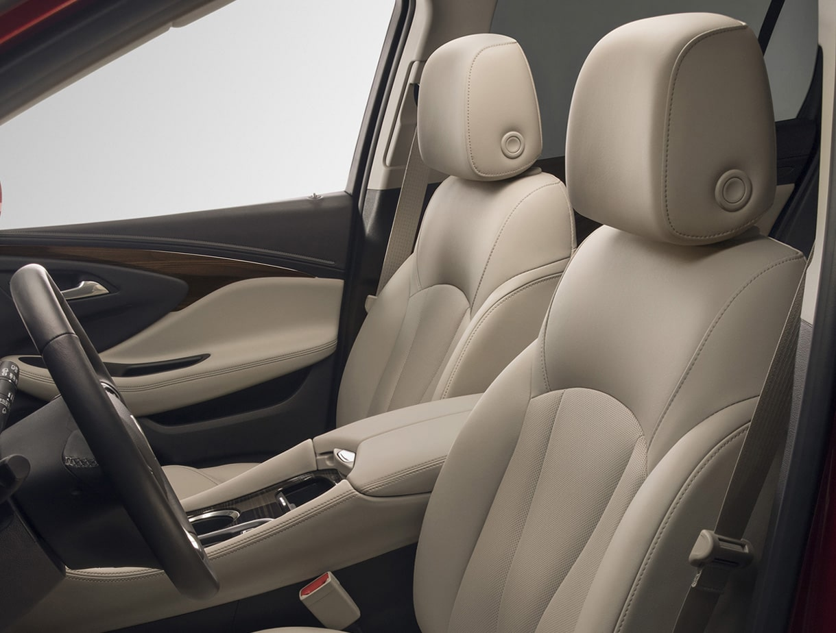 Buick Envision compact luxury SUV interior: available cooled front seats.