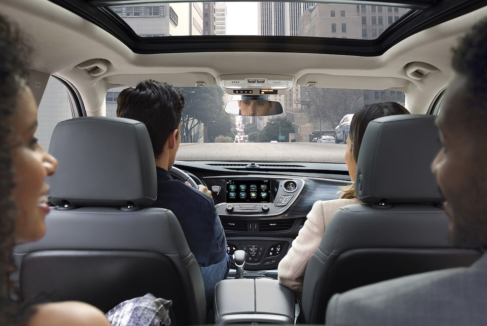 The interior view of 2019 Envision available with spacious seating for five.