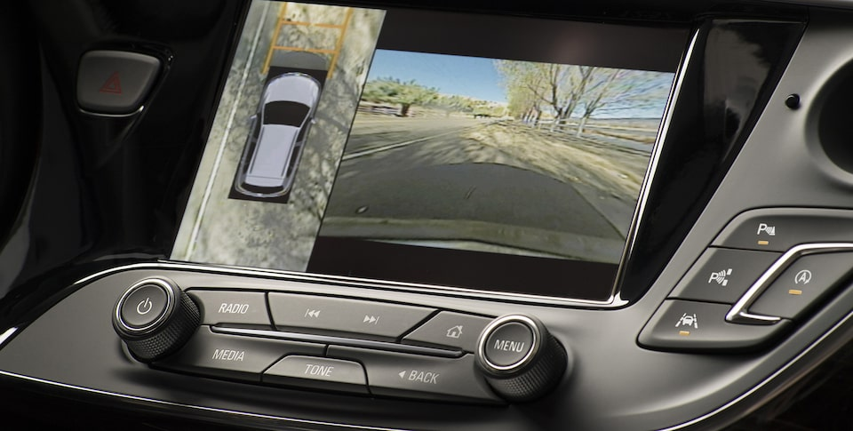 Buick Envision compact luxury SUV's available surround vision system.
