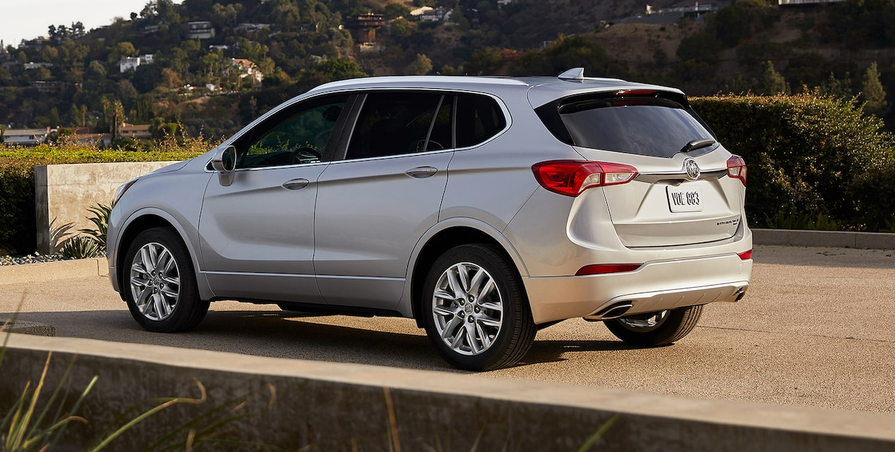 Exterior of the 2019 Buick Envision compact luxury SUV.