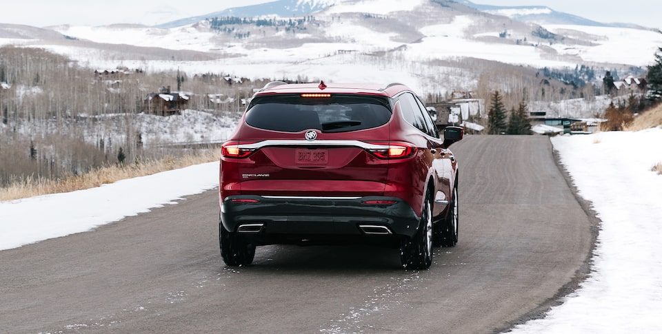 2020 Enclave Driving On The Road.