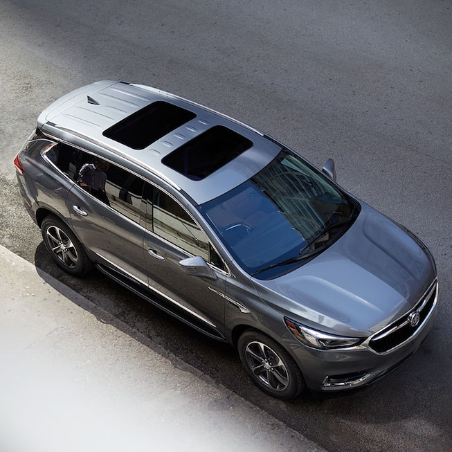 2020 Buick Enclave Mid-Size SUV Birds Eye View.