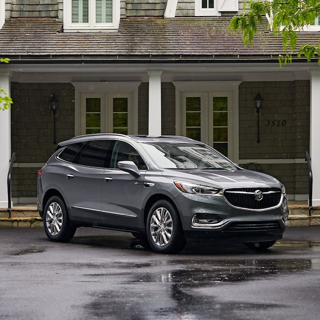 2020 Buick Enclave Mid-Size SUV Front Side House View.