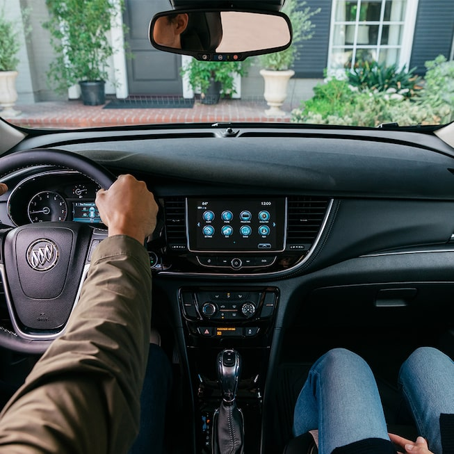 2020 Buick Encore Small SUV Interior View of Dashboard.