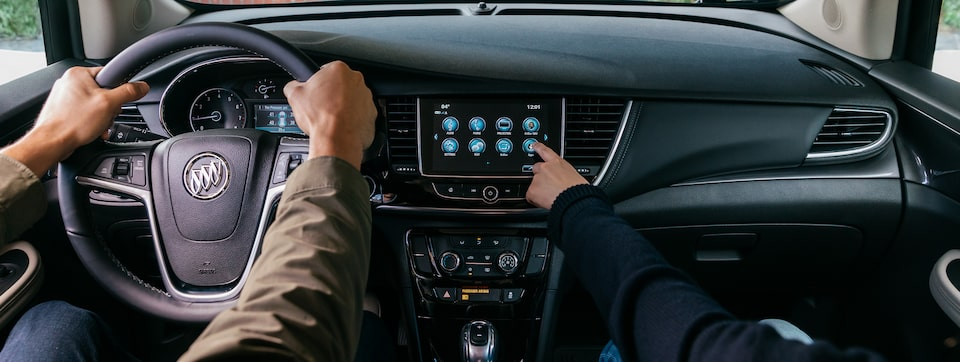 2020 Buick Encore Small SUV Infotainment System Wide View.
