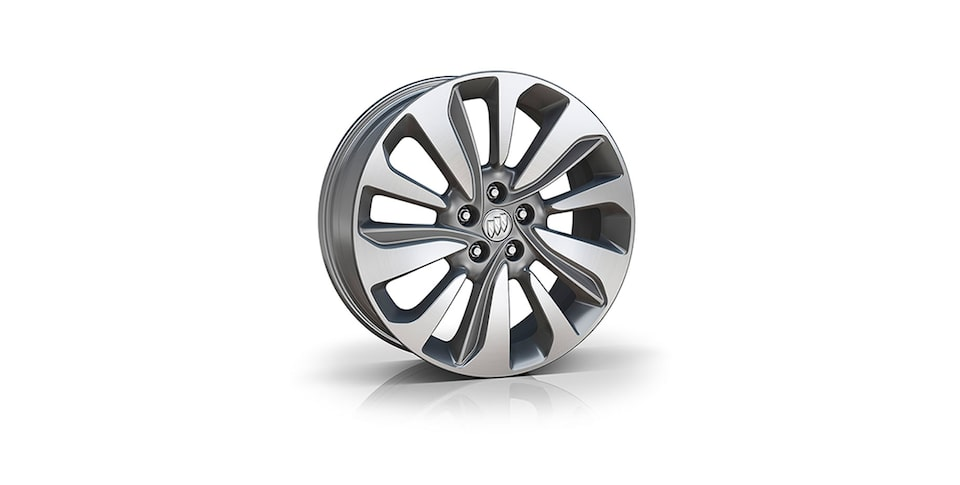 18-Inch 10-Spoke Aluminum Wheels With Light Argent Finish.