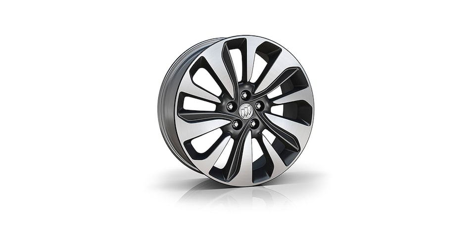 18-Inch 10-Spoke Aluminum Wheels With Technical Gray Finish.