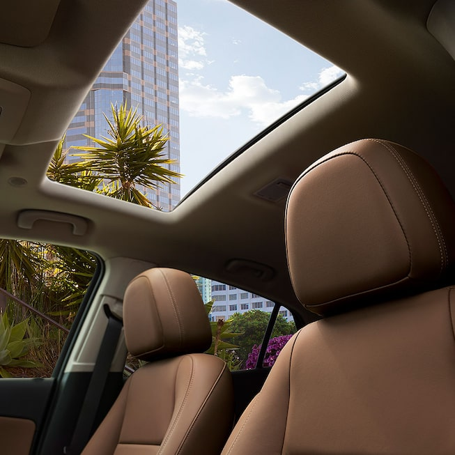 2020 Buick Encore Small SUV: Front Seat With Sunroof View.