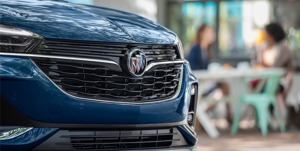 Close-Up View Of The Grille Of The First-Ever Buick Encore GX.