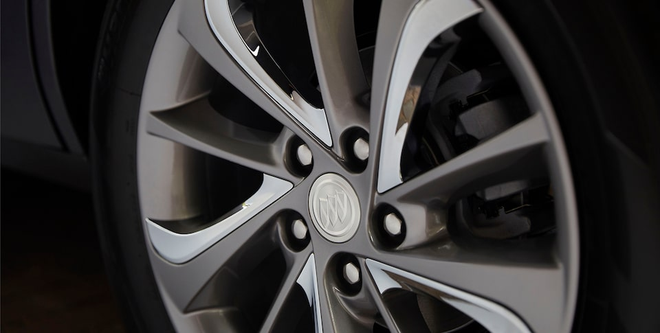 Close-Up View Of The Wheel Of The First-Ever Buick Encore GX.