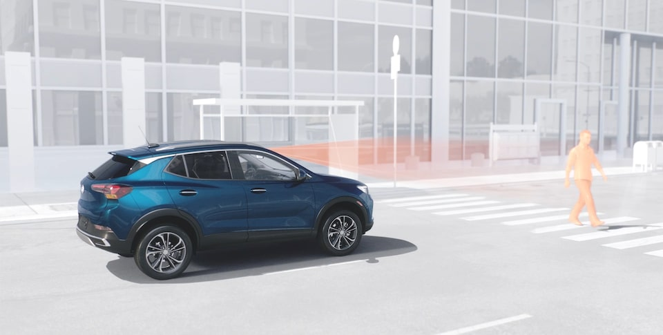 The First Ever Encore GX Safety Features: Front Pedestrian Braking.