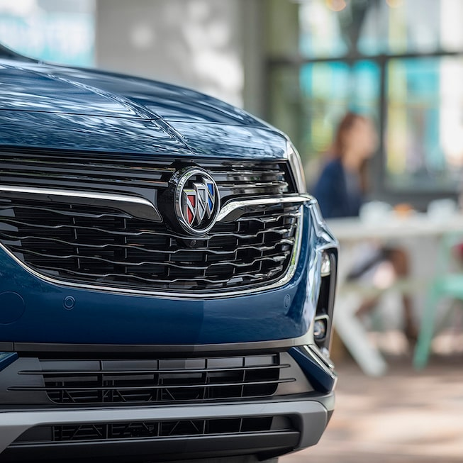 Close-Up View Of The Grille Of The Buick Encore GX.