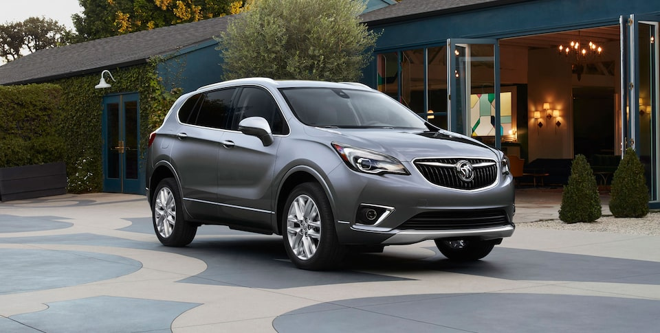 Exterior of the 2020 Buick Envision compact SUV.