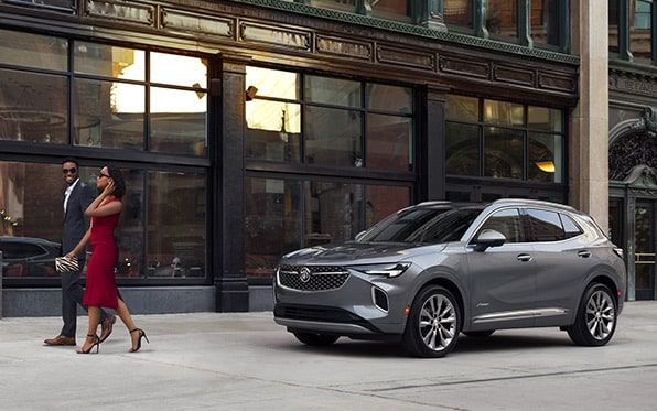 2021 Buick Envision Avenir parked on the road.