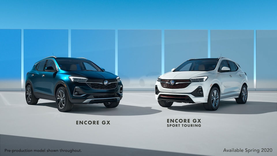 The First-Ever 2020 Buick Encore GX and Encore GX with Sport Touring Package.