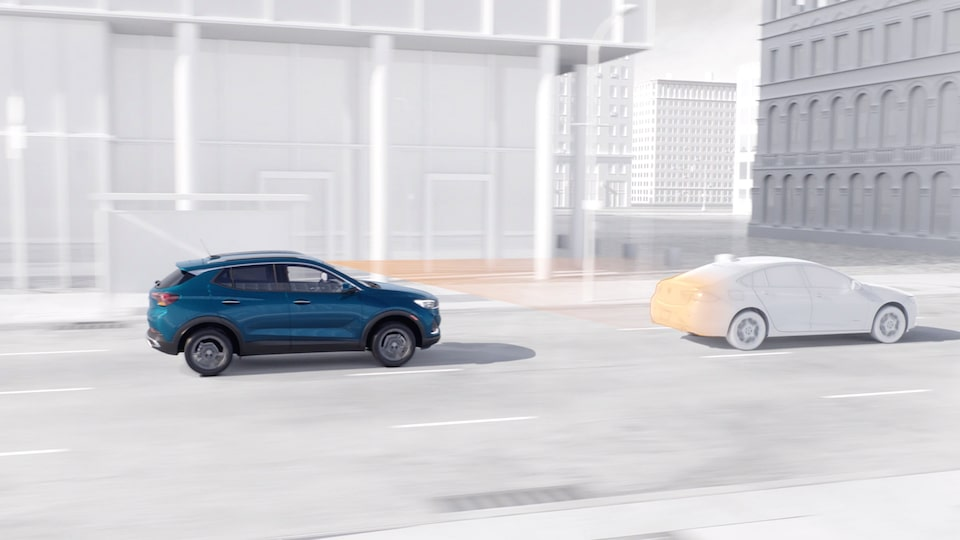 The All-New Buick Encore GX Adaptive Cruise Control Safety Feature.