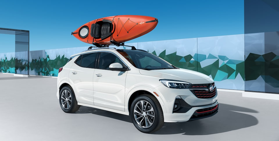 All-New 2020 Buick Encore GX Sport Touring Kayak Integrated Roof Rack.
