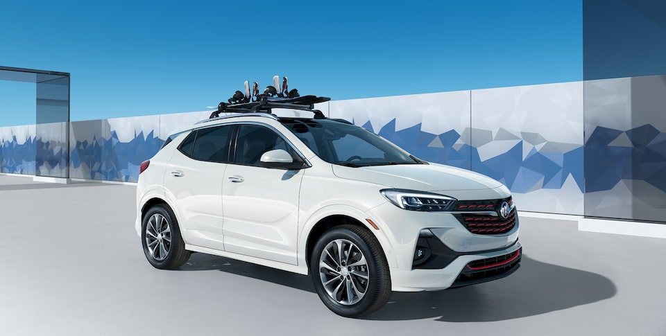 All-New 2020 Buick Encore GX Sport Touring Snowboard Integrated Roof Rack.