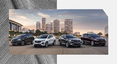 The lineup of Buick SUVs.