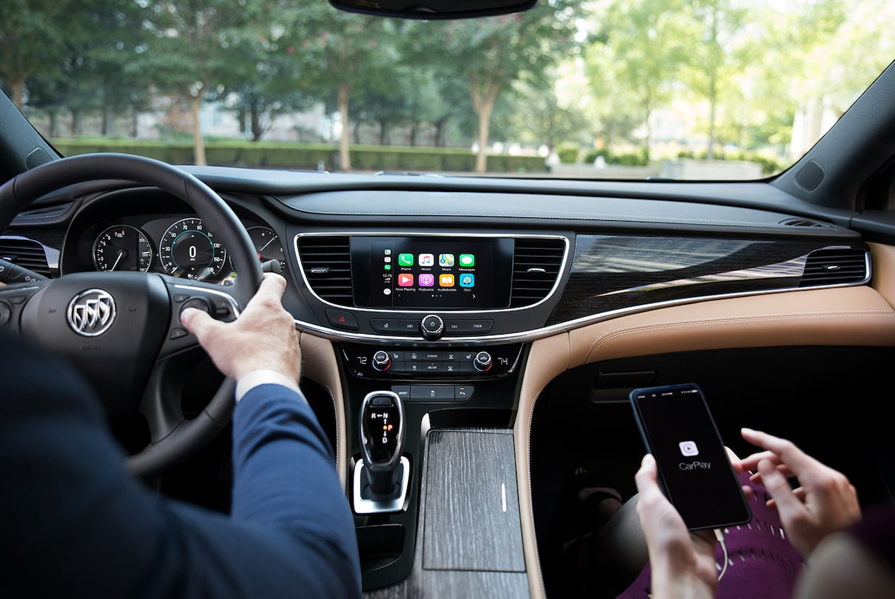 Buick LaCrosse with available Apple CarPlay compatibility.
