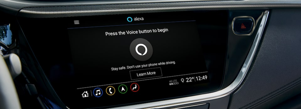 Buick Alexa Built-In Dashboard.