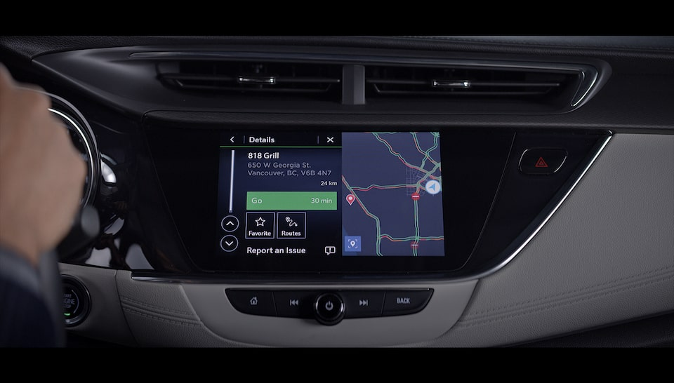 Buick Alexa Built-In Showing Maps.