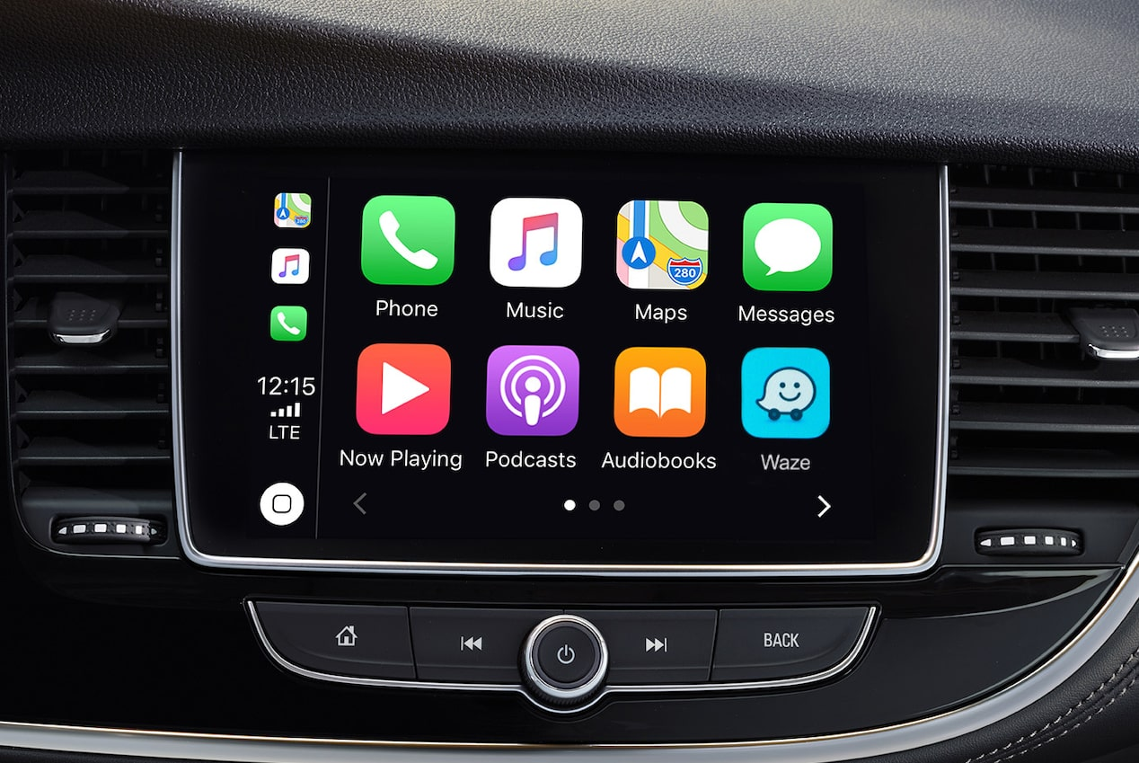 Apple CarPlay connectivity in the 2019 Encore SUV.