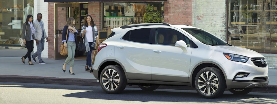 Exterior of the 2019 Buick Encore small luxury SUV.