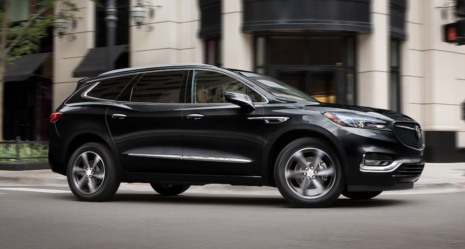 Buick Enclave Mid-Size SUV Exterior New Sport Action Shot.