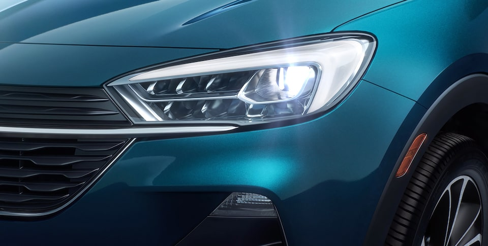 The First Ever Encore GX Safety Features: Intellibeam Headlamps.