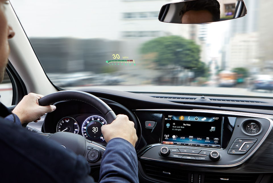 Dispositif de visualisation tête haute du Buick Envision.