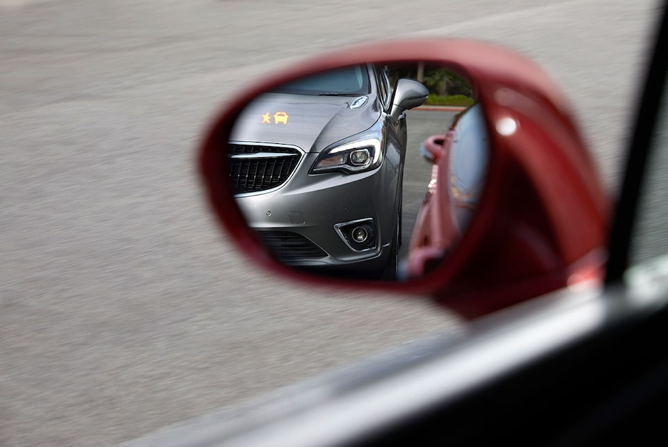 Buick Envision safe blind zone.