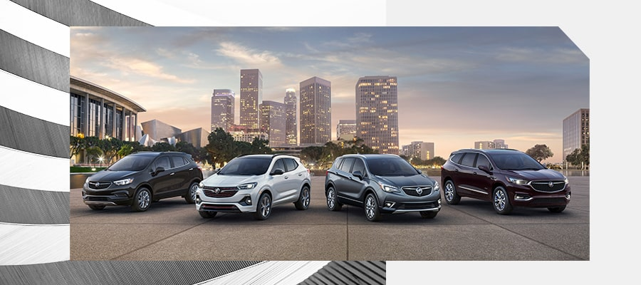 The Buick SUV lineup: Encore, Enclave, and Envision.