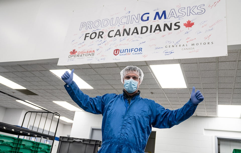 GM Canada to provide 10 million face masks