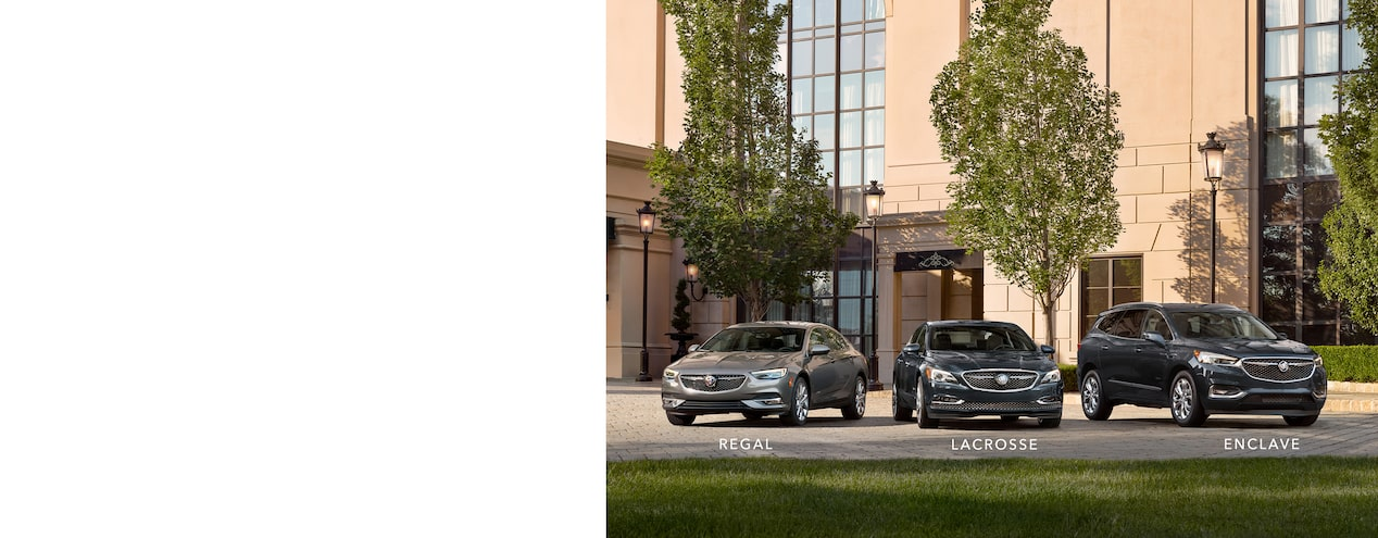 The Buick Avenir lineup: Regal Avenir, LaCrosse Avenir and Enclave Avenir.