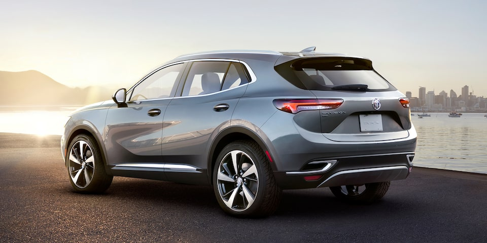 Side exterior profile of the Buick Envision.